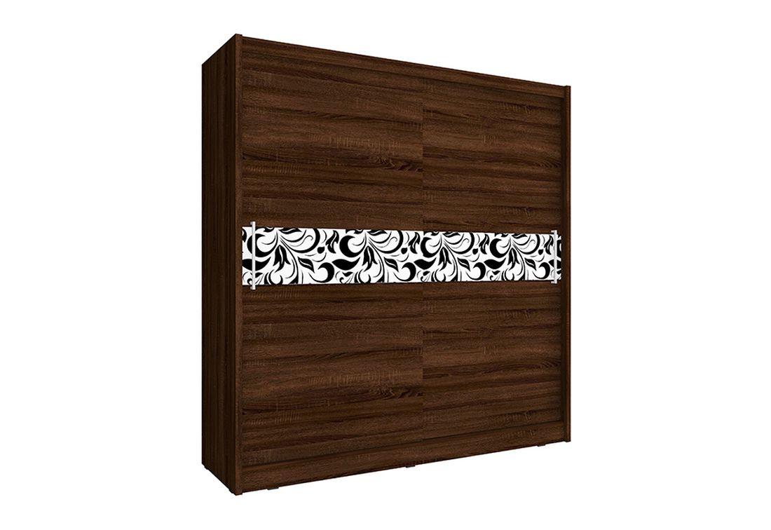 Šatníková skriňa WHITNEY 5 A, 180x200x62 cm, čokoláda