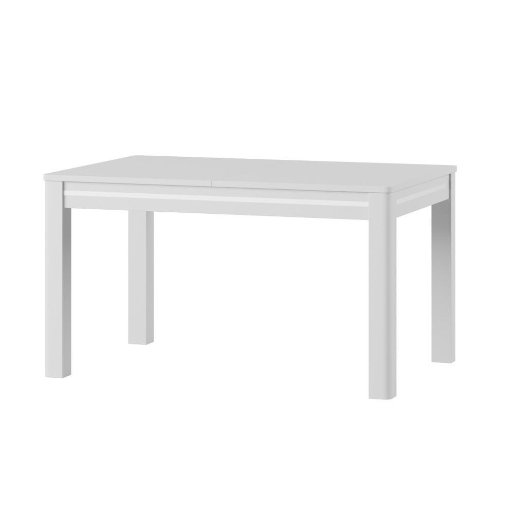 Biely rozkladací jedálenský stôl Szynaka Meble Sunny