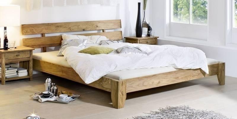 NATURE BROWN #510 Sheesham posteľ 140x200, masívne palisandrové drevo