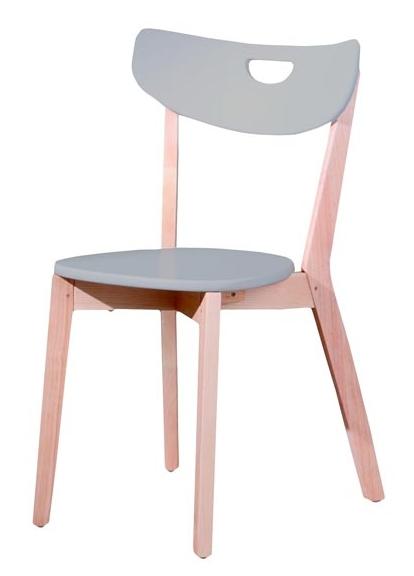 Jedálenská stolička Peppi šedá