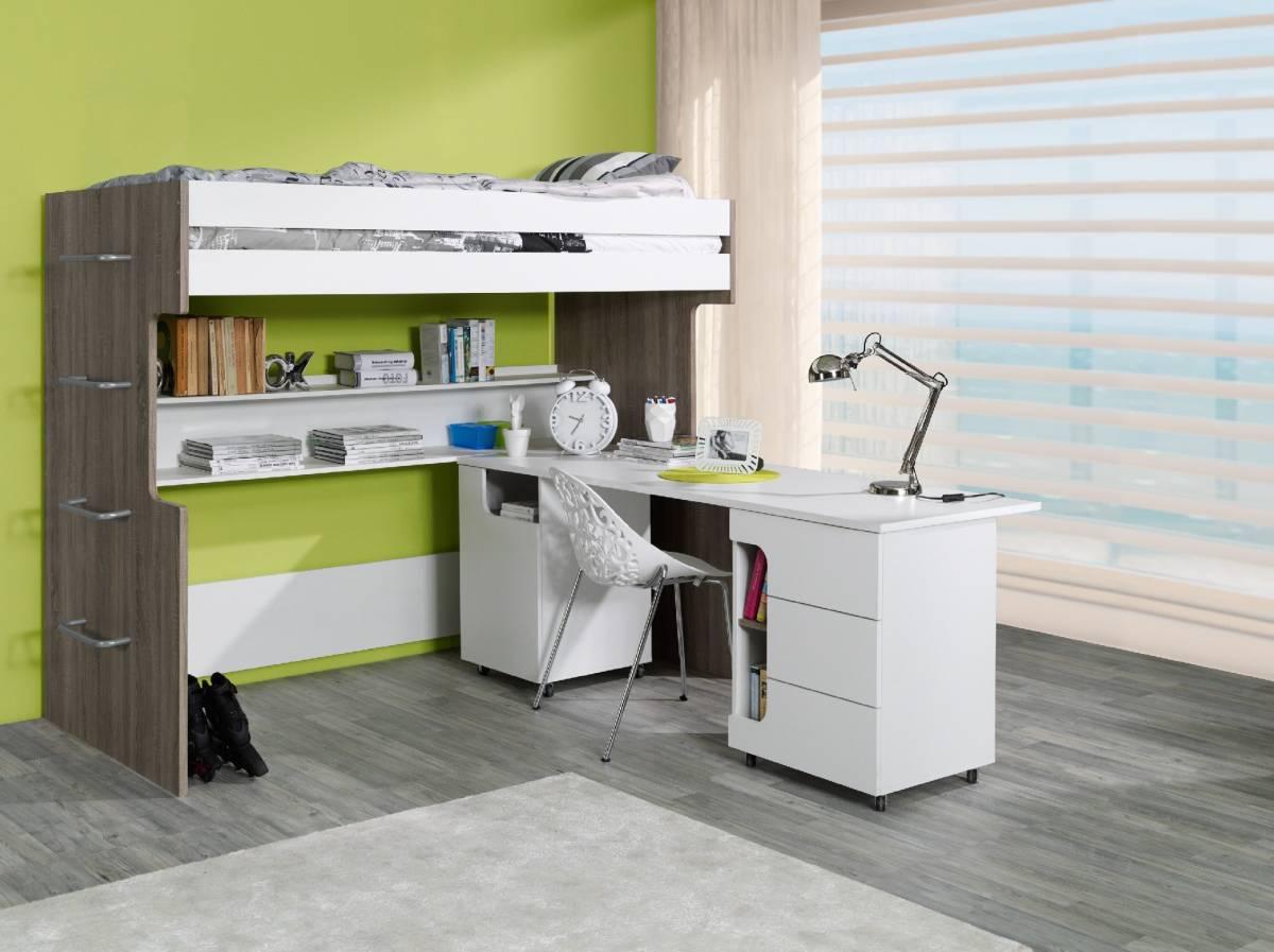 Poschodová posteľ s písacím stolíkom Rico 38