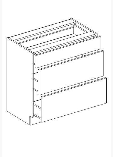 JUSTINA dolná skrinka so zásuvkami D80S3