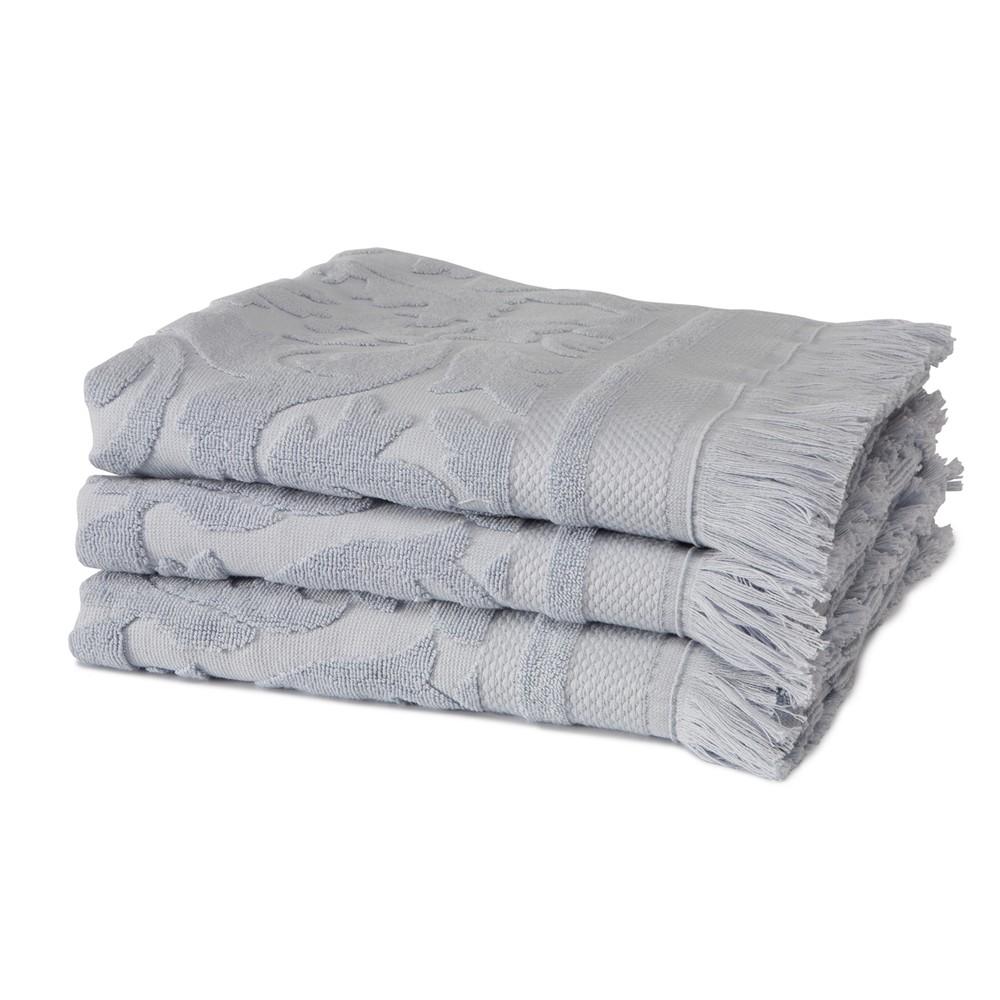 Sada 3 fialových uterákov z organickej bavlny Seahorse, 60×110cm
