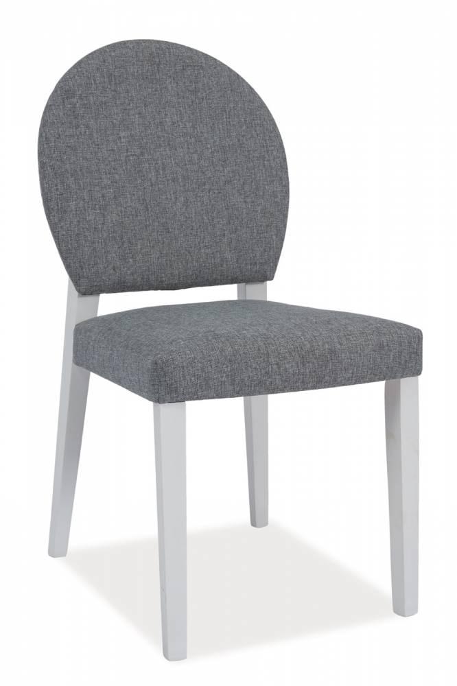 Jedálenská stolička Aldo (biela + sivá)