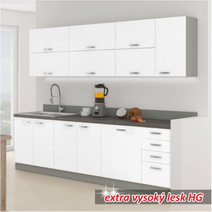 TEMPO KONDELA PRADO kuchyňa - biely vysoký lesk