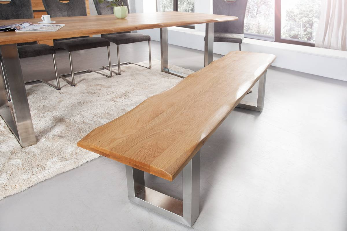 Jedálenská lavica GENESUS 180 cm - hnedá