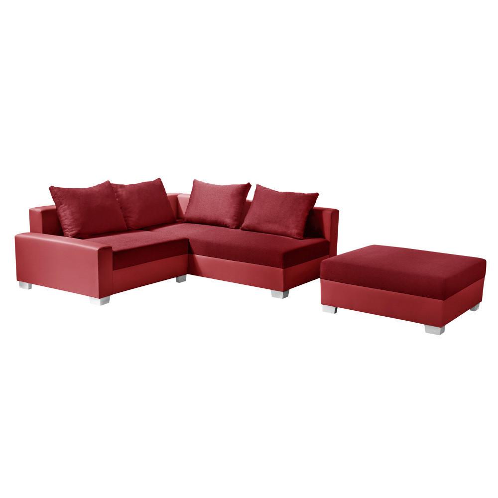 Červená rohová pohovka s lôžkom na pravej strane Interieur De Famille Paris Aventure