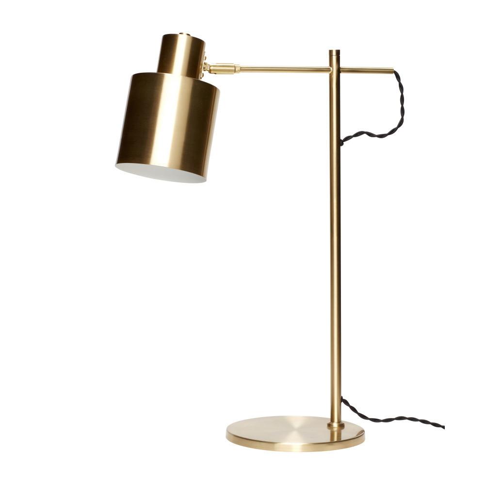 Mosadzná stolová lampa Hübsch Quella