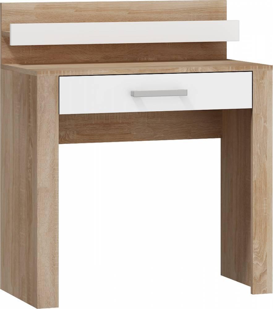 WIP VIKI VIK-15 toaletný stolík - sonoma svetlá / biely lesk