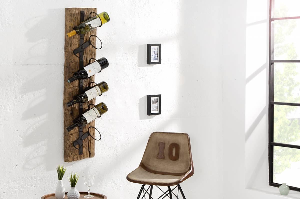 Bighome - Stojan na víno BARACUD 100 cm - hnedá