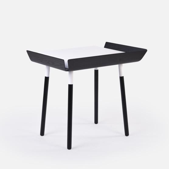 Čierno-biely písací stôl Emko My Writing,1zásuvka
