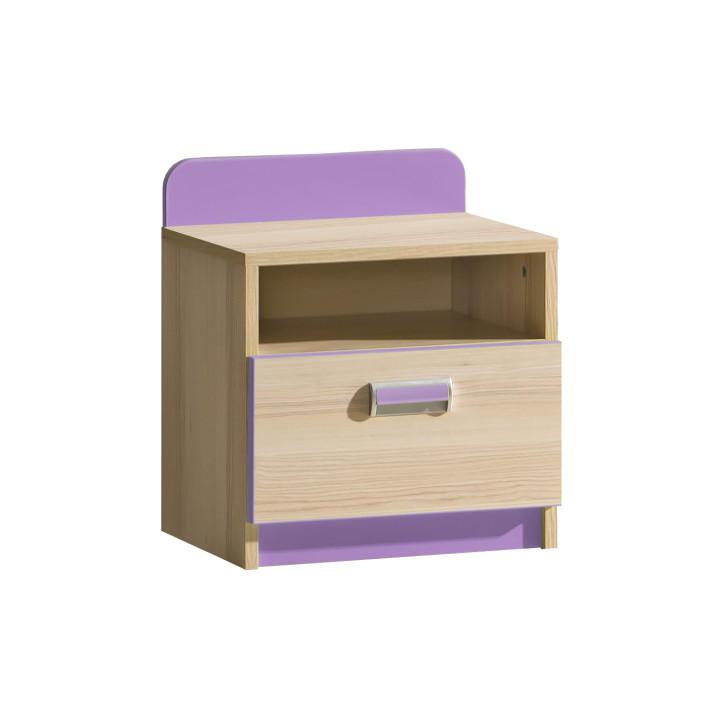 Nočný stolík L12 (fialová)