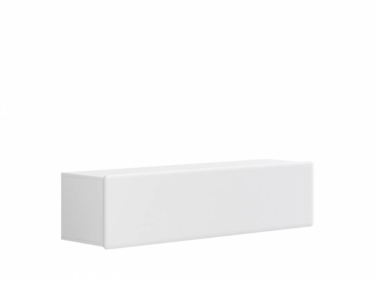 TV stolík/skrinka Possi Light RTV1K 4/16 (biela + lesk biely)