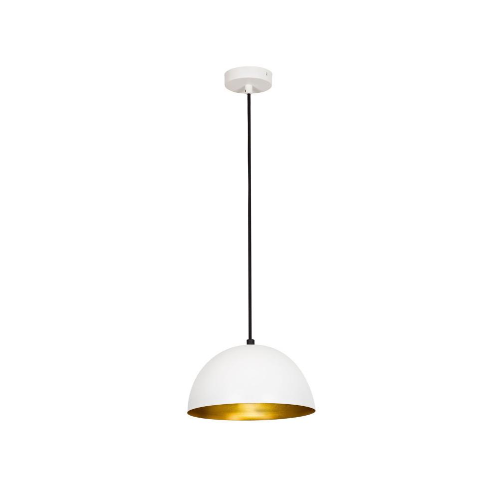 Bielo-zlaté stropné svietidlo Avona