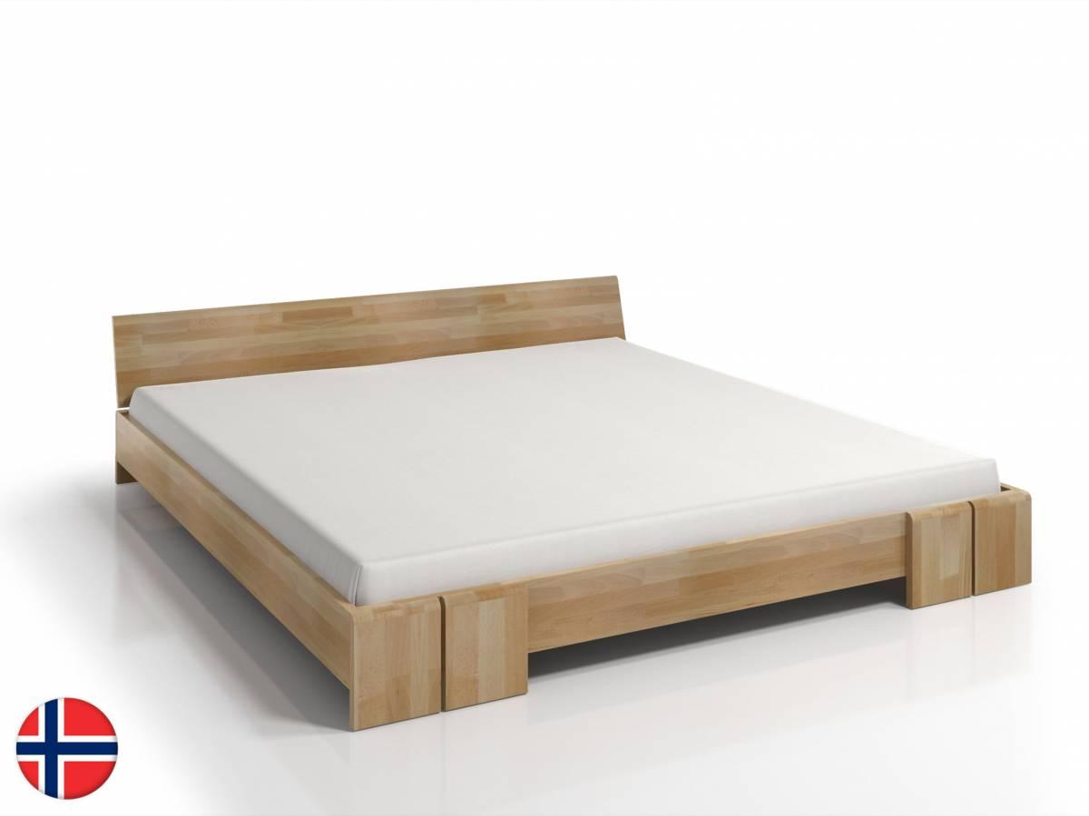 Manželská posteľ 140 cm Naturlig Galember (buk) (s roštom)