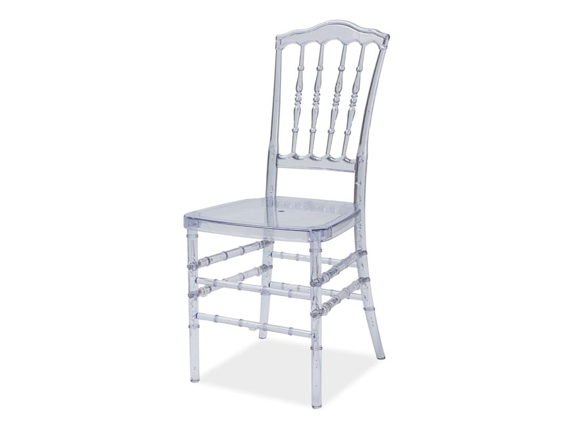LORA jedálenská stolička, transparentná