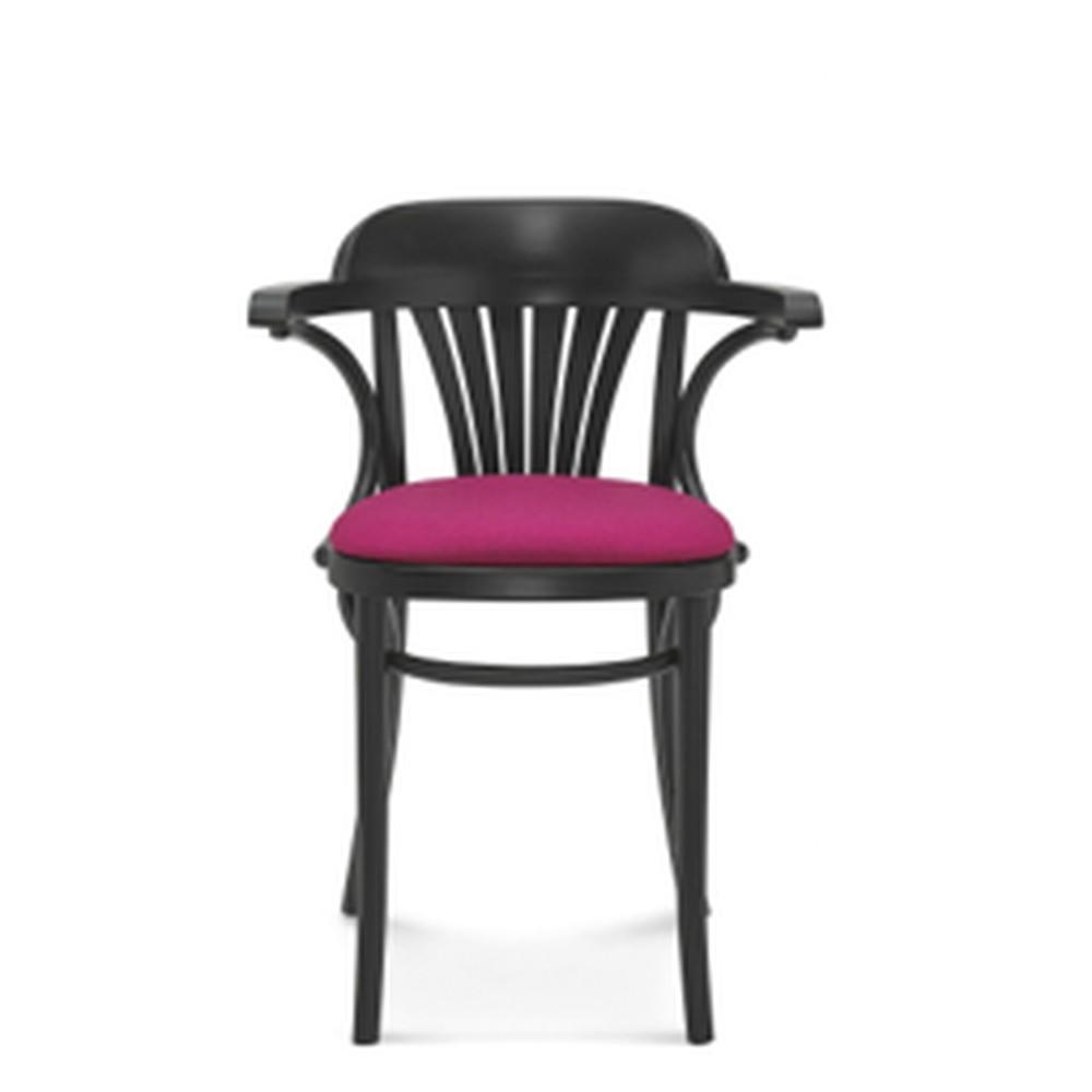 Drevená stolička s ružovým polstrovaním Fameg Mathias