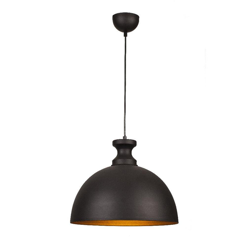 Závesné svietidlo Simple Black/Orange