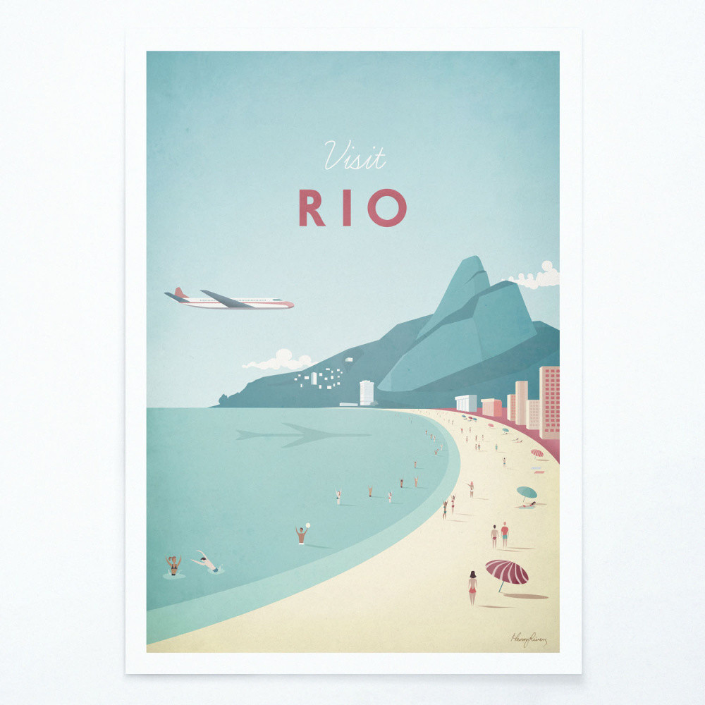 Plagát Travelposter Rio, A3