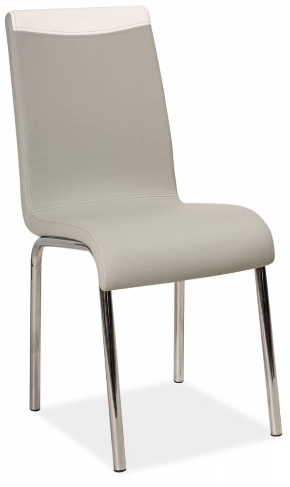 Jedálenská stolička HK-161, šedá/biela