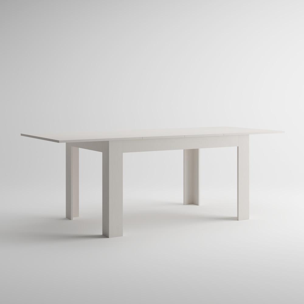 Rozkladací jedálenský stôl v dekore bielej borovice MobiliFiver Easy, dĺžka140-220cm