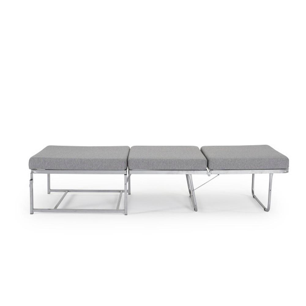 Skladacia posteľ a sivý puf v jednom Innovation Gyda