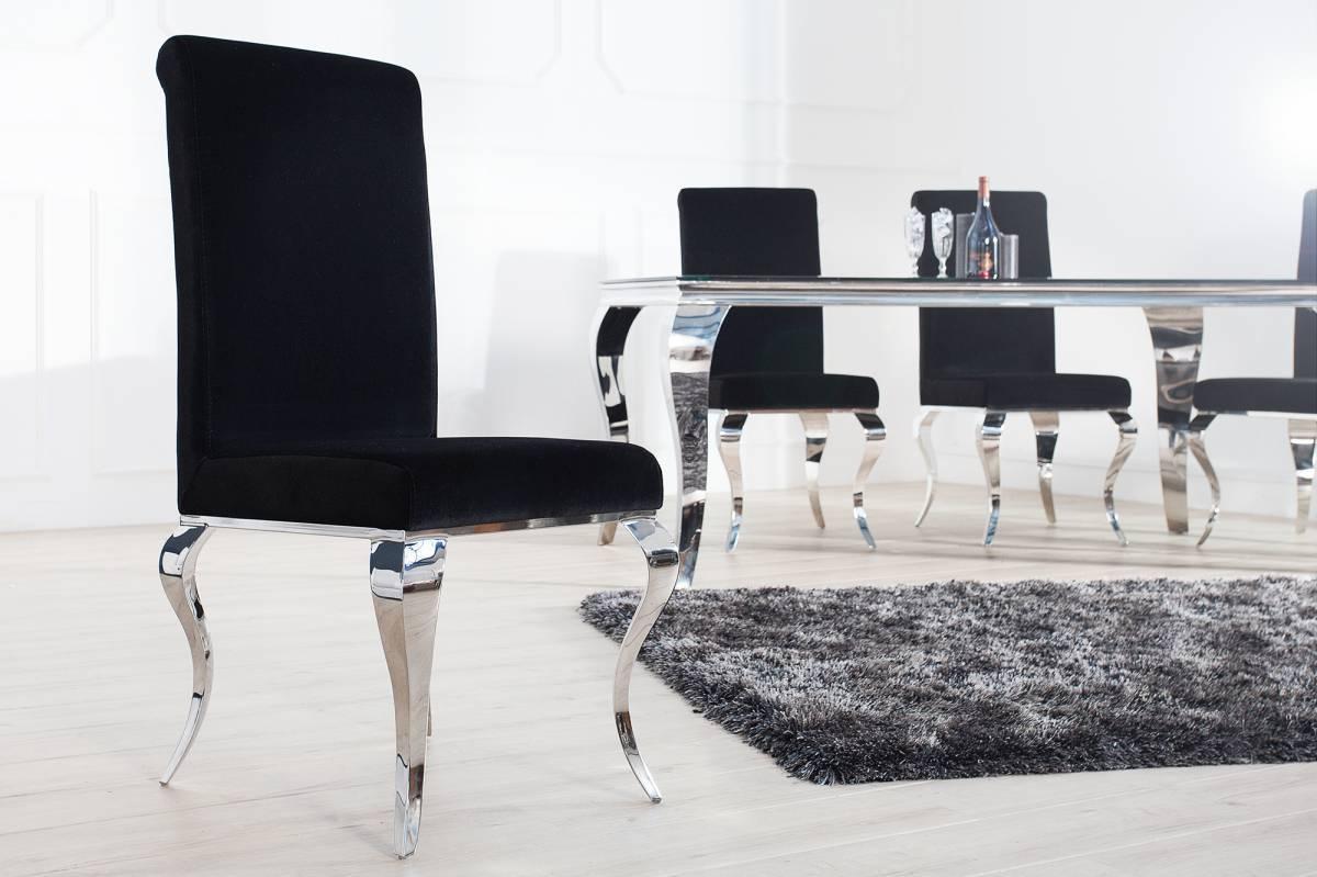 Stolička BARROCK - čierna