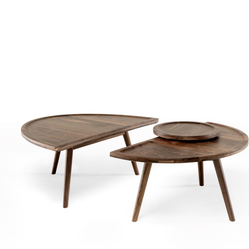 2-dielny konferenčný stolík z orechového dreva Wewood - Portugues Joinery Colombo