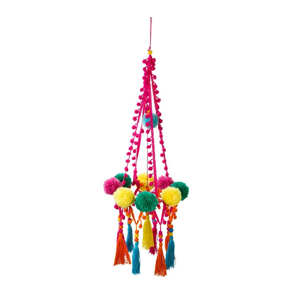 Závesná ozdoba Talking Tables Boho Pom Pom, výška 67 cm