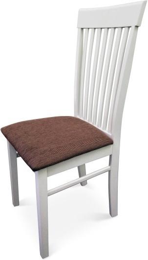 Stolička, biela/hnedá látka,  ASTRO