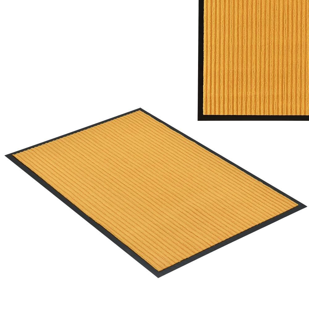 [en.casa]® Rohožka - koberc - 90 x 60 cm - horčicovo žltá