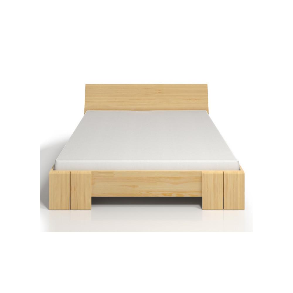 Dvojlôžková posteľ z borovicového dreva s úložným priestorom SKANDICA Vestre Maxi, 200x200cm
