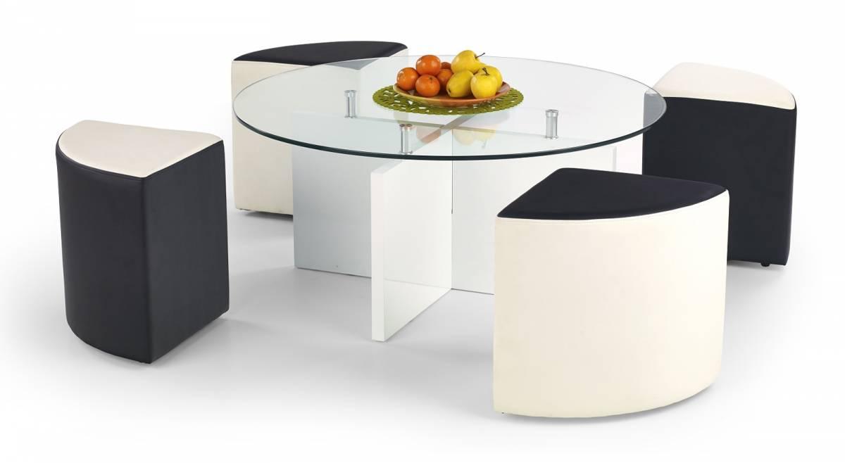 Konferenčný stolík Latoya (s taburetkami)