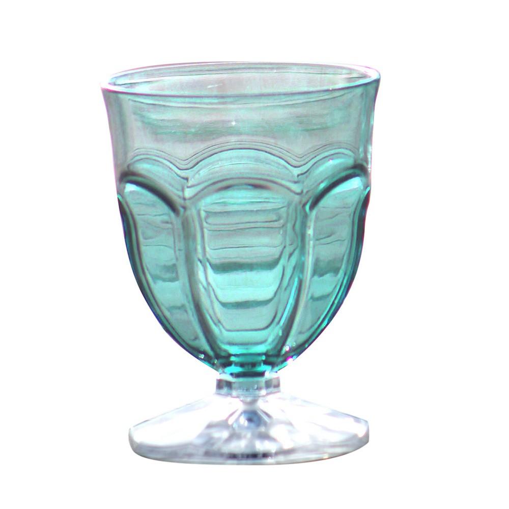 Sada 6 modrých plastových pohárov na vodu Sunvibes Happy, 250 ml