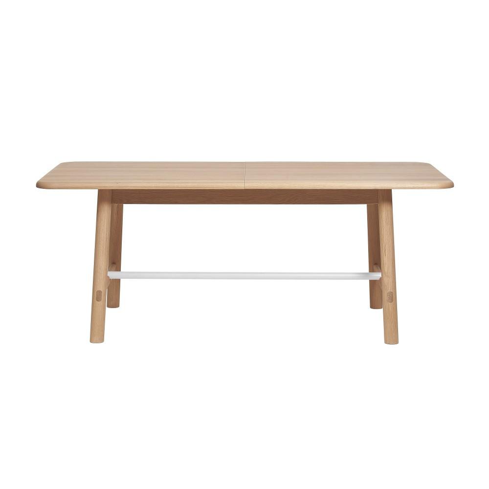 Rozkladací stôl z dubového dreva s bielou priečkou HARTÔ Helene, 240×190cm