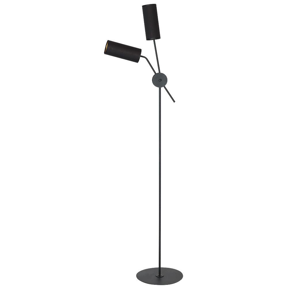 Čierna voľne stojacia lampa Glimte Tutto Dos