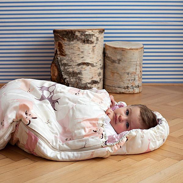 Detský spací vak Bartex Ružové zvieratká, 70x180cm