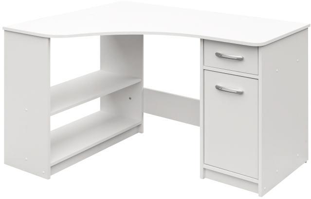 Rohový PC stolík Horn 6 (biela)
