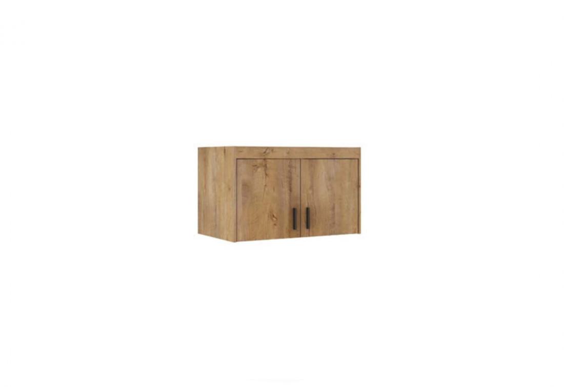 Nástavec na šatní skříň ELLENA 2D, 90x55x53, dub lefkas