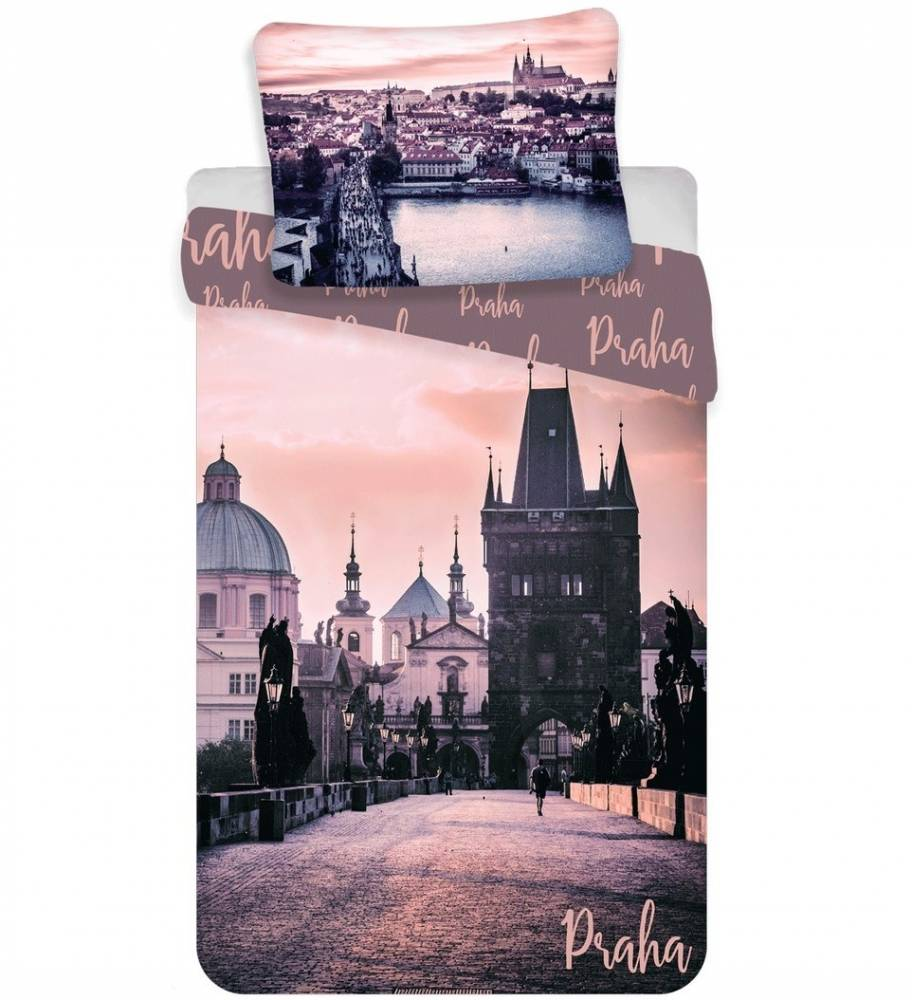 Jerry Fabrics Bavlnené obliečky Praha - Romantique, 140 x 200 cm, 70 x 90 cm