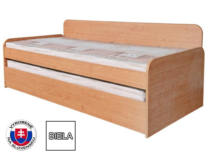 Rozkladacia posteľ 90 cm Nika Plus 2 (s roštami, bez matracov) (biela) *výpredaj