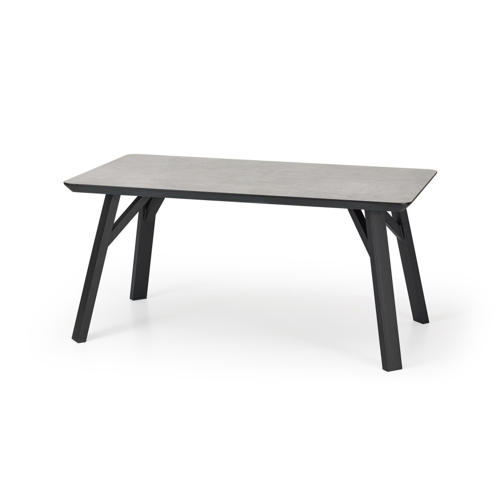 Jedálenský stôl v dekore betóna Halmar Proton, 160 x 90 cm