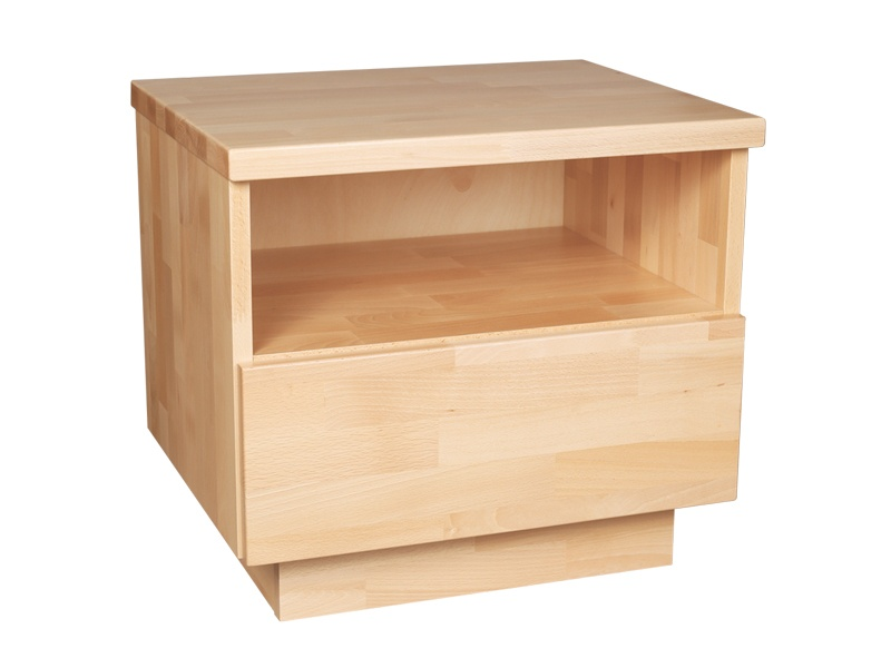 PreSpánok Alfa - nočný stolík z buku alebo dubu