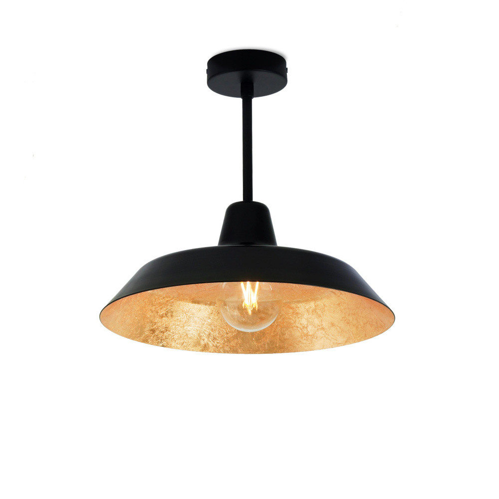 Čierno-zlaté stropné svietidlo Bulb Attack Cinco Basic