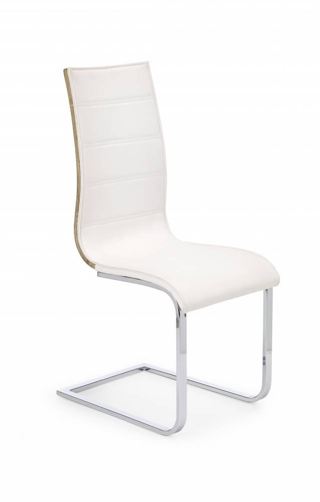 Jedálenská stolička K104 (biela + dub sonoma)