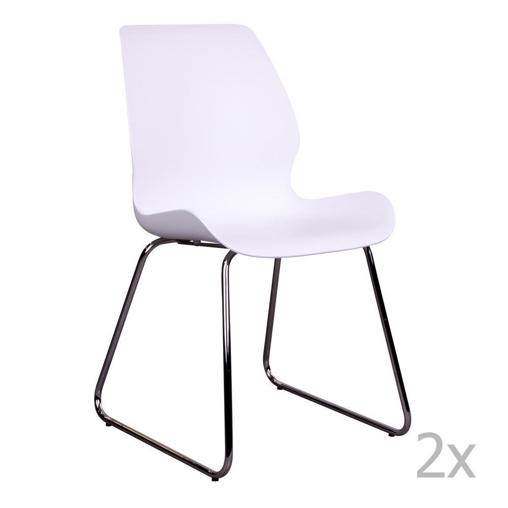 Sada 2 bielych stoličiek House Nordic Sola