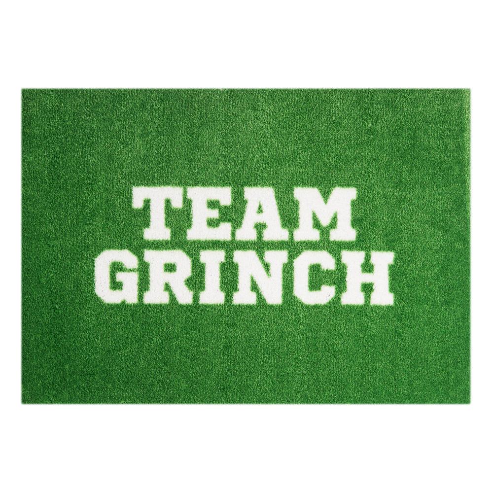 Zelená rohožka Mint Rugs  StateMat Team Grinch, 50x75cm
