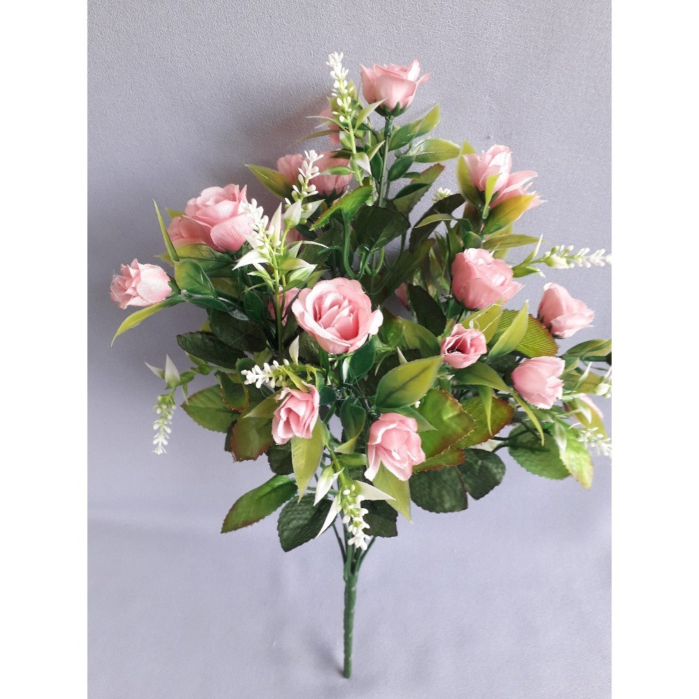 Umelá kytica Ruža, ružová X184/růžová