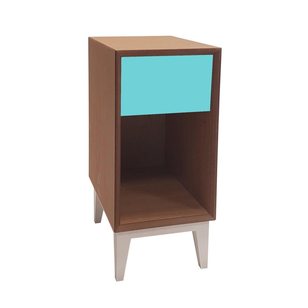 Malý nočný stolík s tmavotyrkysovou zásuvkou Ragaba PIX