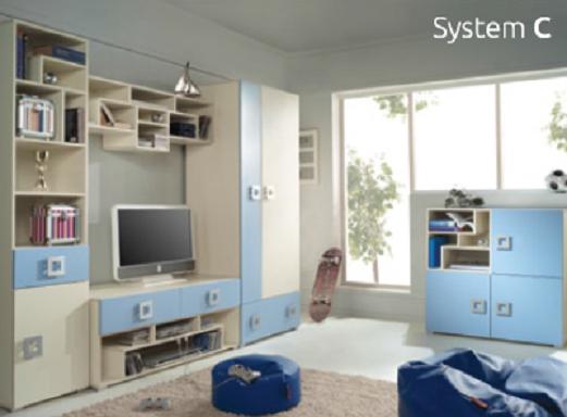 Detská izba Labirynt C | modrá